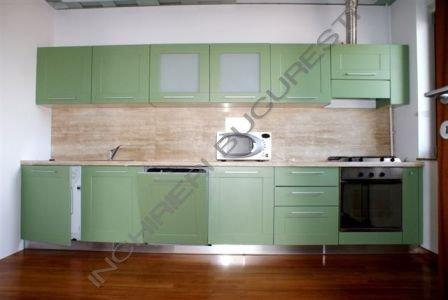 mobila de bucatarie verde